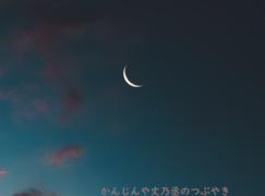 かんじんや丈乃丞のつぶやき -新月は冒険のスタート