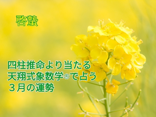 四柱推命より当たる占い象数学®で占う3月(弥生)の運勢【3/5~4/4】